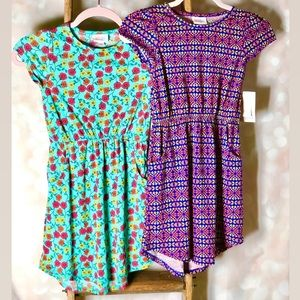 LulaRoe Girls Size 8 Mae Dress Bundle NWT